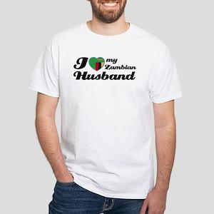 I love my Zambian Husband White T-Shirt
