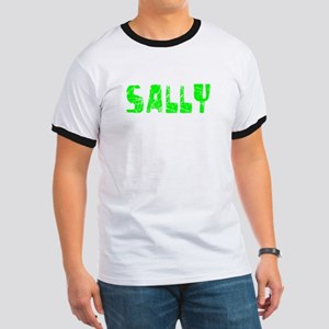 Sally Faded (Green) Ringer T