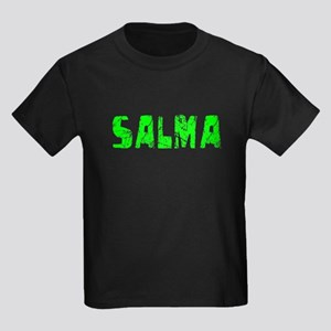 Salma Faded (Green) Kids Dark T-Shirt