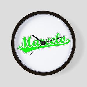 Retro Marcelo (Green) Wall Clock