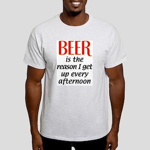 Beer is the Reason Ash Grey T-Shirt