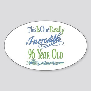 Incredible 96th Oval Sticker