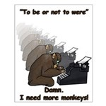 Infinite Monkeys Small Poster