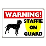 Staffordshire Bull Terrier On Guard Banner