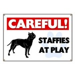 Staffordshire Bull Terriers At Play Banner