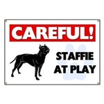 Staffordshire Bull Terrier At Play Banner