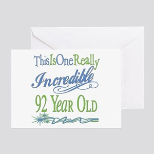 Incredible 92nd Greeting Card