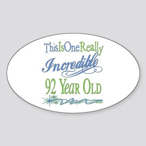 Incredible 92nd Oval Sticker