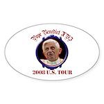 Pope Benedict XVI 2008 U.S. Tour Sticker (Oval 50