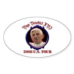Pope Benedict XVI 2008 U.S. Tour Sticker (Oval 10