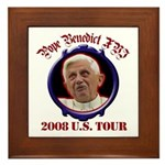 Pope Benedict XVI 2008 U.S. Tour Framed Tile