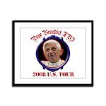 Pope Benedict XVI 2008 U.S. Tour Framed Panel Prin