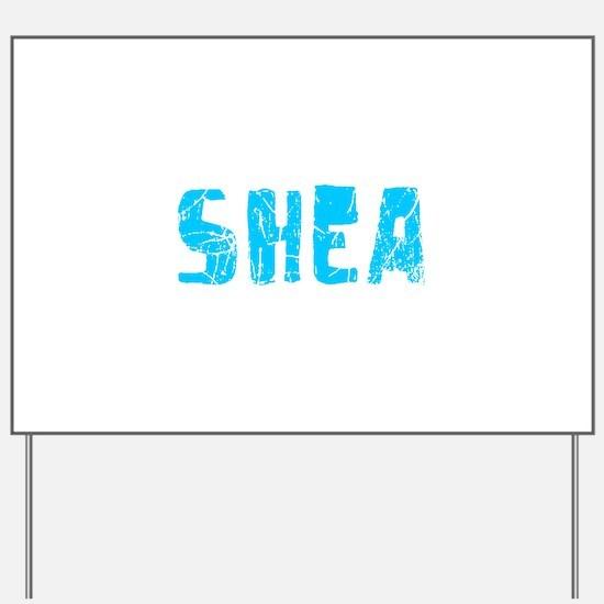 Shea Faded (Blue) Yard Sign