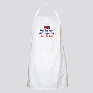 Brit-Stiff Upper Lip BBQ Apron