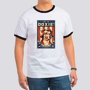 Obey the Doxie! USA Dachshund Ringer T