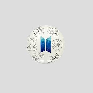 BTS Logo and Autugraphs Mini Button
