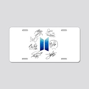 BTS Logo and Autugraphs Aluminum License Plate