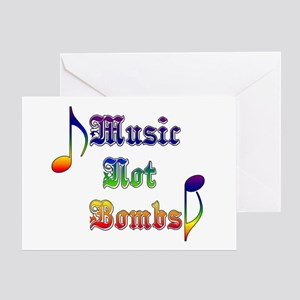 Music Not Bombs Greeting Card