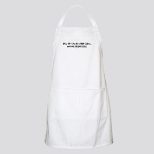 Open a can of whoop elbow BBQ Apron