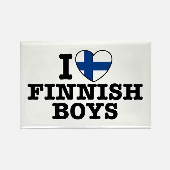I Love Finnish Boys Rectangle Magnet