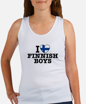I Love Finnish Boys Women's Tank Top