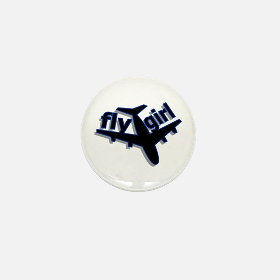 Fly Girl Mini Button