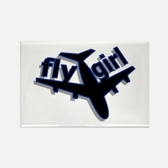 Fly Girl Rectangle Magnet