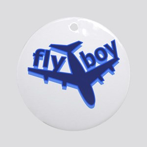 Fly Boy Ornament (Round)