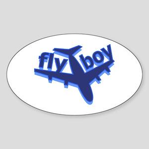 Fly Boy Oval Sticker