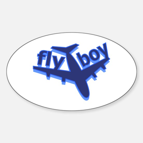 Fly Boy Oval Decal