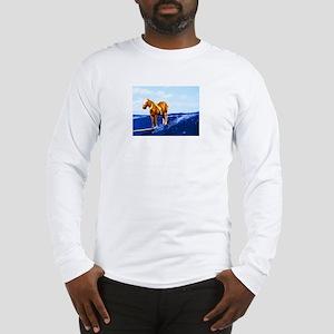 Mr. Ed Surfs Long Sleeve T-Shirt