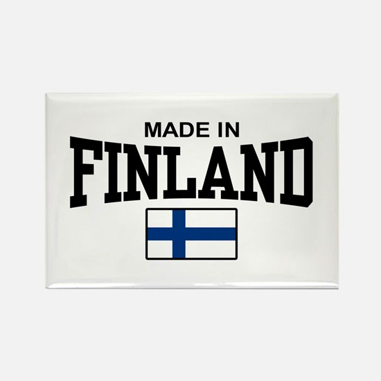 Made In Finland Rectangle Magnet