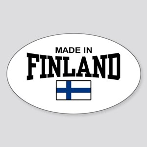 Made In Finland Oval Sticker