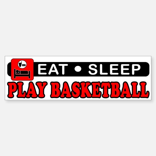 Play Basketball Sticker (Bumper)