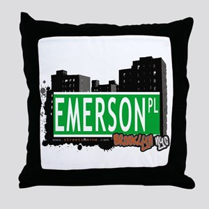 EMERSON PL, BROOKLYN, NYC Throw Pillow