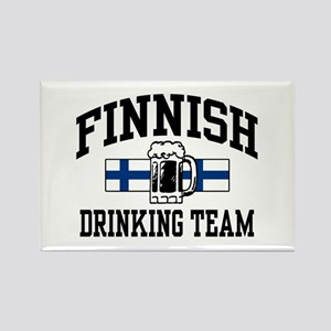 Finnish Drinking Team Rectangle Magnet