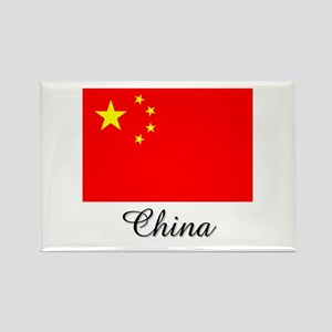 China Flag Rectangle Magnet