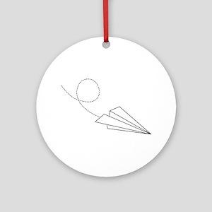 Paper Plane Ornament (Round)