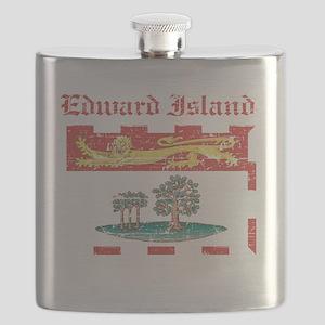 Edward Island Canada flag design Flask