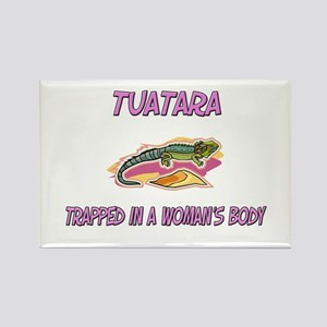 Tuatara Trapped In A Woman's Body Rectangle Magnet