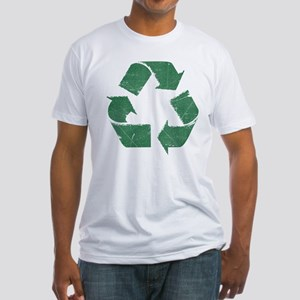 Vintage Green Recycle Sign Fitted T-Shirt