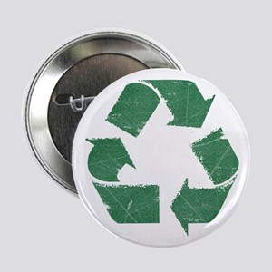 Vintage Green Recycle Sign Button