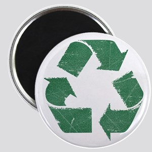 Vintage Green Recycle Sign Magnet