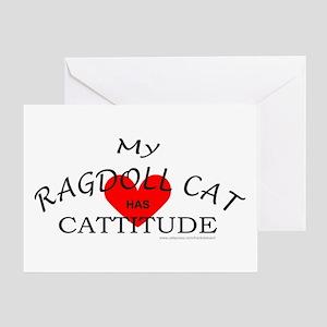 RAGDOLL CAT Greeting Card