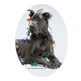 Great dane Oval Ornaments
