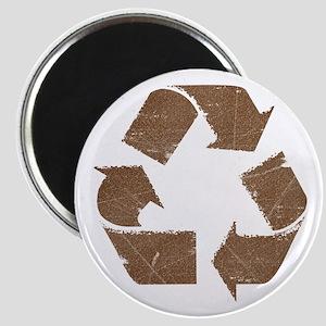 Vintage Brown Recycle Sign Magnet