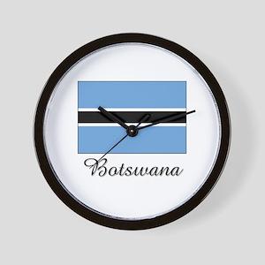 Botswana Flag Wall Clock