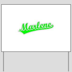 Retro Marlene (Green) Yard Sign