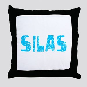 Silas Faded (Blue) Throw Pillow