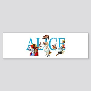 ALICE & FRIENDS IN WONDERLAND Sticker (Bumper)